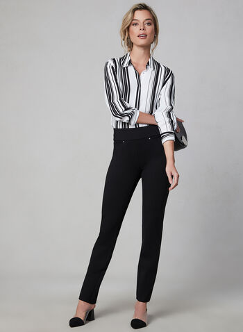 Madison Slim Leg Pants, Black, hi-res,  pull-on, elasticized, fall 2019, winter 2019