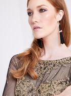 XSCAPE - Beaded Lace Mesh Sheath Dress, Black, hi-res