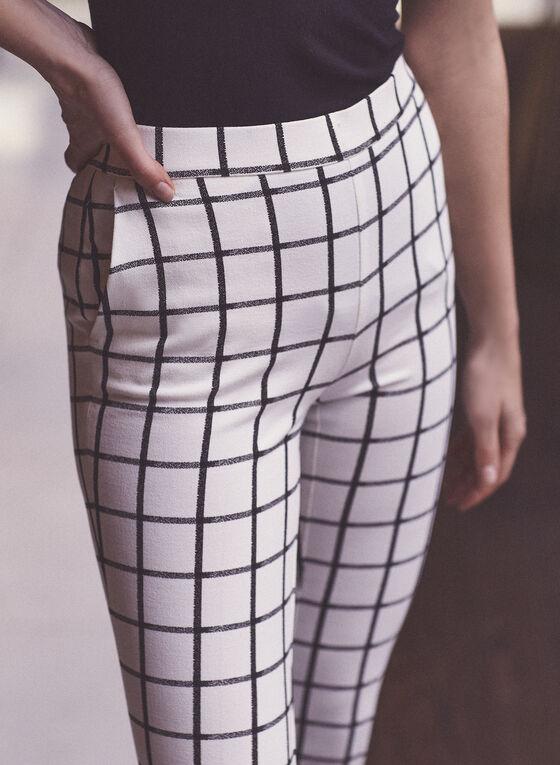 Plaid Print Amber Pants, White