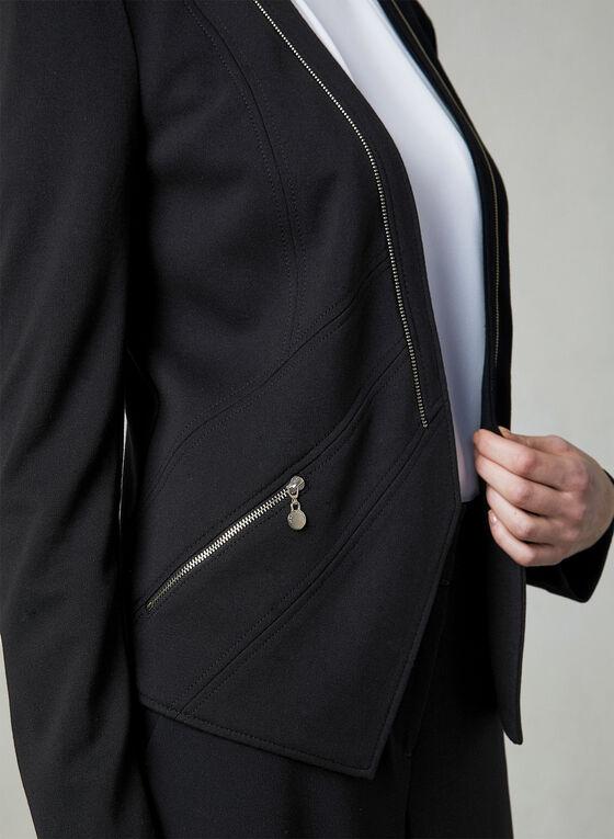 Vex - Zipper Trim Jacket, Black