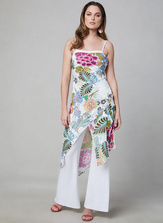 Joseph Ribkoff - Floral Print Strapless Jumpsuit, White, hi-res
