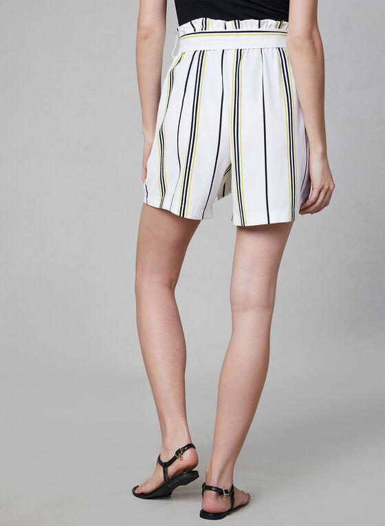 Chapter One - Stripe Print Shorts, White, hi-res