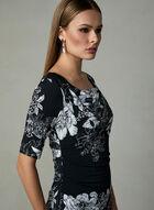 Adrianna Papell - Floral Print Jersey Dress, Black, hi-res