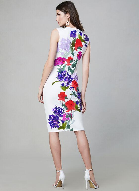 Maggy London - Floral Print Dress, White, hi-res