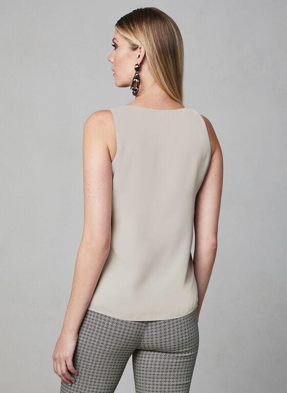 Sleeveless Button Detail Blouse, Off White, hi-res