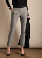 Giselle Twill Pattern Pants, Black