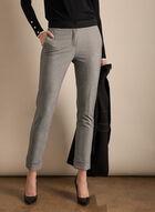 Pantalon Giselle aspect tweed, Noir