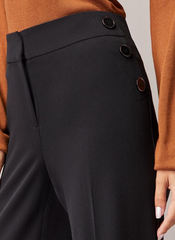 Pantalon Soho à jambe large, Noir
