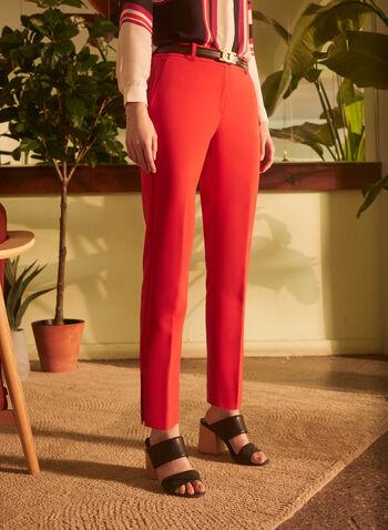 Pantalon coupe Giselle à jambe étroite, Orange,  pantalon, giselle, jambe étroite, printemps été 2020