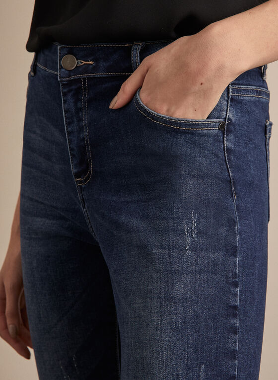 Frank Lyman - Slim Leg Denim Jeans, Blue
