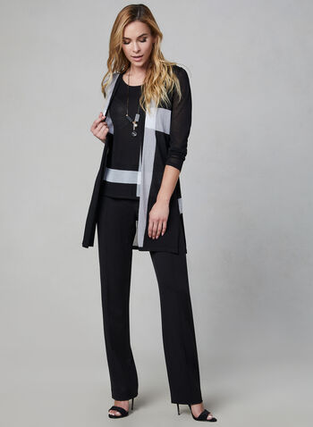 Lauren Fit Straight Leg Pants, Black, hi-res,  bi-stretch, stretchy, mid rise, trouser, tailored, workwear, fall 2019, winter 2019