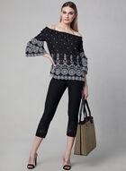 Capri pull-on à détail crochet, Noir, hi-res