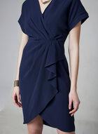 Maggy London - Robe en crêpe, Bleu, hi-res