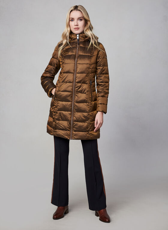 Novelti - Long Down Coat, Brown