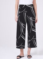 Clara Sunwoo - Abstract Print Pull-On Culottes, Black, hi-res