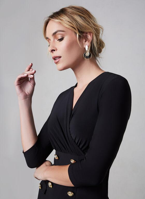 Joseph Ribkoff - Detailed Slim Dress, Black, hi-res