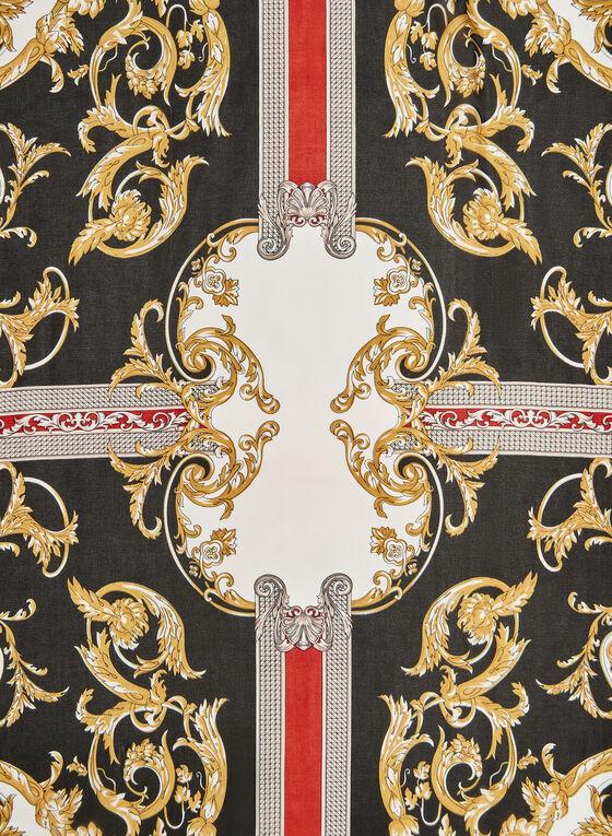 Foulard à imprimé baroque, Noir