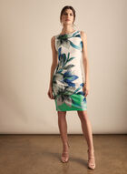 Flora Print Sheath Dress, White