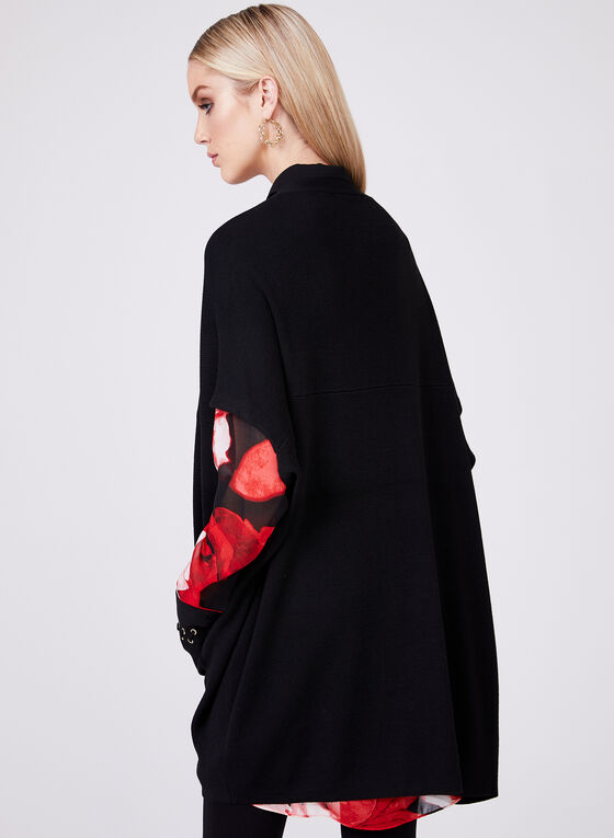 Cocoon Knit Cardigan, Black, hi-res