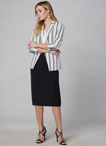 Bi-Stretch Pencil Skirt, Black,  fall 2019, winter 2019, workwear, midi skirt