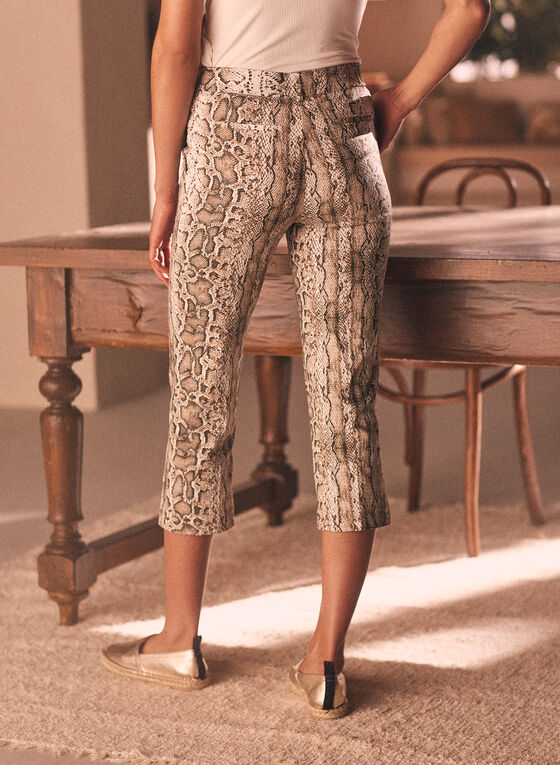 Chapter One - Snake Print Pull-On Capris, Brown
