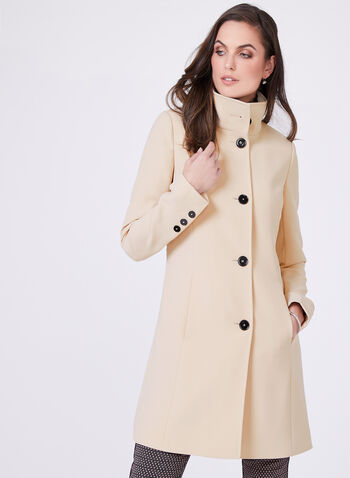 Nuage - Classic Button Front Spring Coat, Brown, hi-res