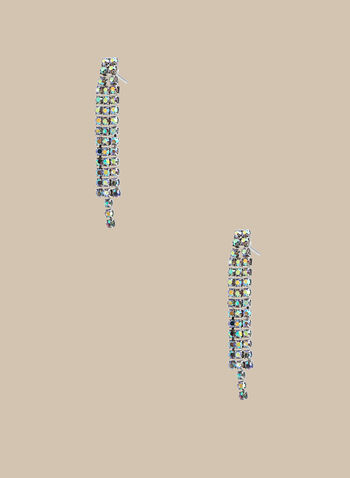 Crystal Dangle Earrings , Silver,  earrings, crystals, crystal earrings, dangle earrings, spring 2020, summer 2020