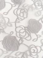 Foulard étole transparent avec roses, Argent, hi-res