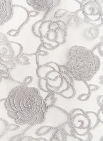 Sheer Rose Print Wrap Scarf, , hi-res