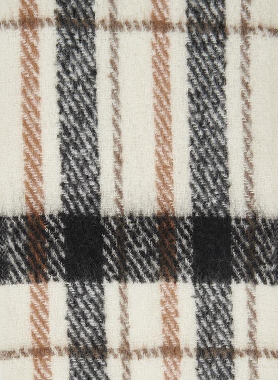 Foulard brossé à motif de carreaux, Noir