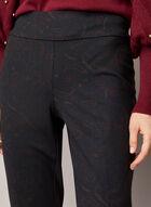 Pantalon Madison à motif cachemire, Noir