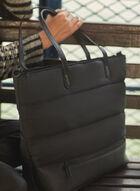 Puffer Nylon Tote Bag, Black
