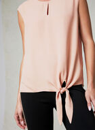 Tie Front Blouse, Pink, hi-res