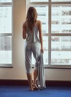 Cami, Capri & Wrap Pyjama Set, Grey