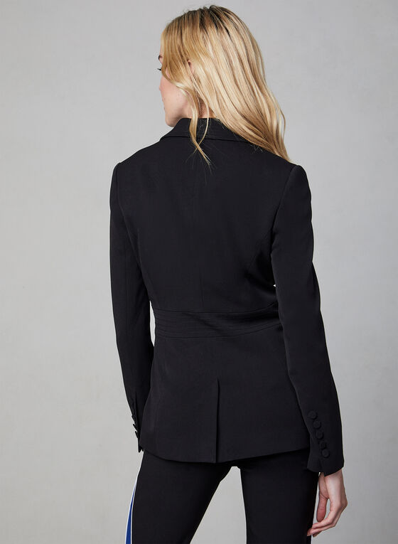Notch Collar Blazer, Black, hi-res