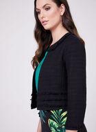 Karl Lagerfeld Paris - Cropped Tweed Jacket, Black, hi-res