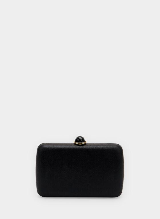 Rectangular Box Clutch, Black, hi-res
