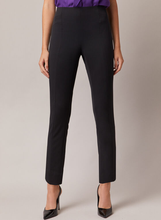 Amber Slim Leg Pants, Black