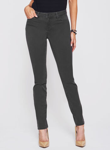 The Super Soft Slim Leg Tummy Control Jeans, Grey, hi-res