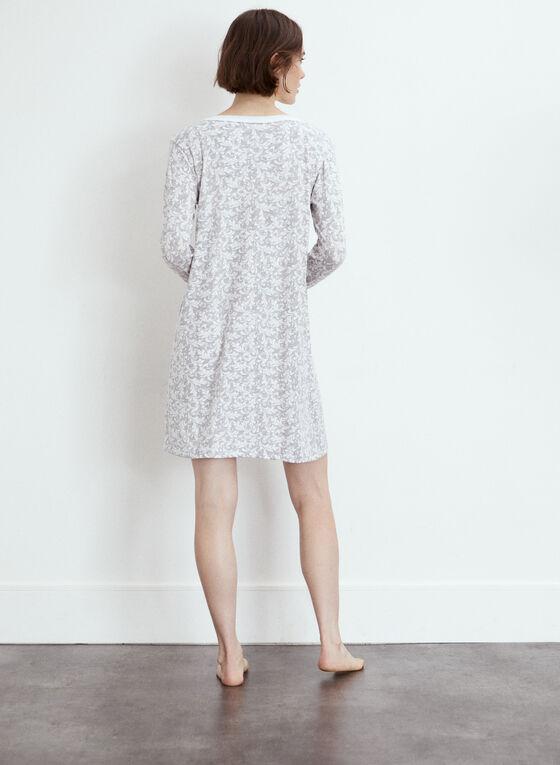 Paisley Print Nightgown, Grey
