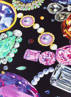 Lightweight Jewel Print Scarf, Multi, hi-res