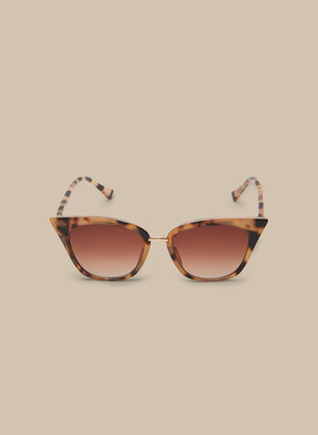 Cat Eye Plastic Sunglasses, Brown,  sunglasses, eyewear, cat eye, spring 2020, summer 2020