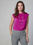 Vince Camuto - Satin Blouse, Pink