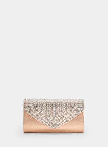 Crystal Embellished Envelope Clutch, Pink, hi-res