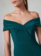BA Nites - Off The Shoulder Dress, Green