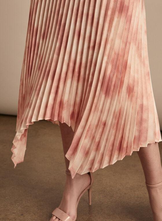 Vince Camuto - Pleated Handkerchief Hemline Skirt, Pink