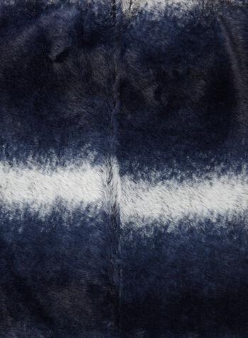 Écharpe tube en simili fourrure ombrée, Gris, hi-res