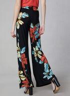 Joseph Ribkoff - Pantalon floral à jambe large, Noir, hi-res