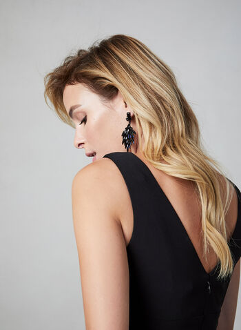 BA Nites - Glitter Lace Dress, Black, hi-res,  fall winter 2019, fit & flare, lace, glitter, sequin