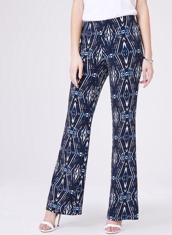 Conrad C -Tie Dye Print Wide Leg Pants, Blue, hi-res